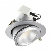 luminaled led lighting Encastré rond basculant 38W LED Pro - Silver - Samsung