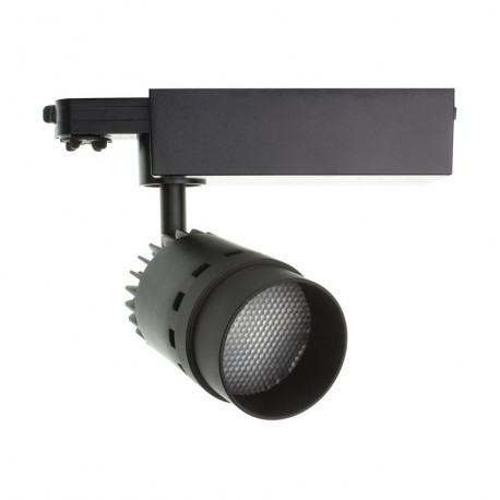 luminaled led lighting Spot sur rail 20W LED Pro - Noir - Triphasé